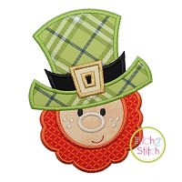 Leprechaun Face Boy Applique Design