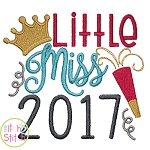 Little Miss 2017 Embroidery