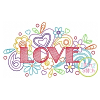 Love Doodle Embroidery Design