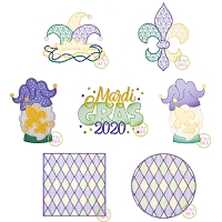 Mardi Gras 2020 Design Set