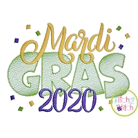 Mardi Gras 2020 Embroidery Design