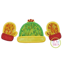 Mittens Hat Trio Applique
