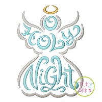 O Holy Night Angel Embroidery