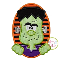 Oval Frankenstein Applique
