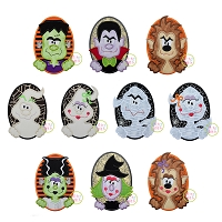Oval Halloween Applique Design Set