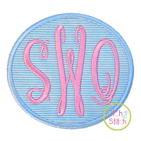 Oval Monogram Frame Applique