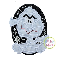 Oval Mummy Boy Applique