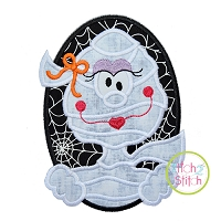 Oval Mummy Girl Applique