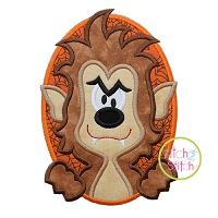 Oval Werewolf Boy Applique
