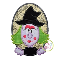 Oval Witch Applique