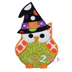 Halloween Owl Witch Applique