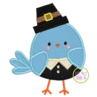 Pilgrim Bird Boy Applique