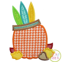 Pumpkin with Headdress Applique