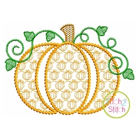 Pumpkin Motif Embroidery