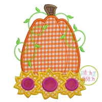 Pumpkin Sunflowers Applique