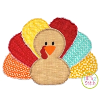 Rag Tag Turkey Boy Applique