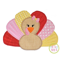 Rag Tag Turkey Girl Applique