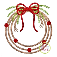 Rope Christmas Wreath Embroidery