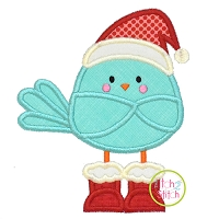 Santa Bird Applique