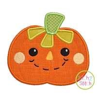 Scarecrow Pumpkin Boy Applique