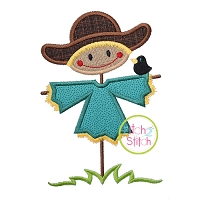 Scarecrow With Crow Boy Applique