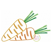 Scratchy Carrots Embroidery