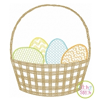 Scratchy Easter Basket Embroidery