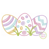 Scratchy Easter Egg Trio Embroidery