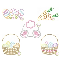 Scratchy Easter Embroidery Design Set