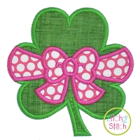 Shamrock Big Bow Applique