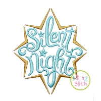 Silent Night Star Embroidery