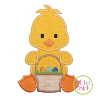 Sitting Duck Basket Boy Applique