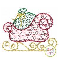 Sleigh Motif Embroidery