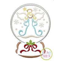 Snow Globe Angel Embroidery