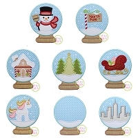 Snow Globe Applique Design Set