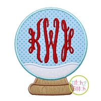 Snow Globe Blank Applique