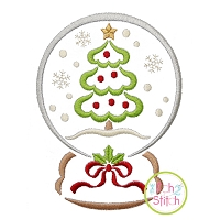Snow Globe Christmas Tree Embroidery