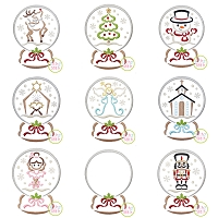 Snow Globe Embroidery Design Set