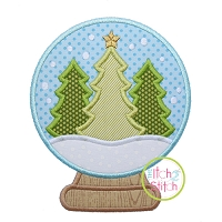Snow Globe Trees Applique