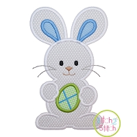 Standing Bunny with Egg Boy Applique