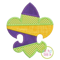 Striped Fleur De Lis Applique