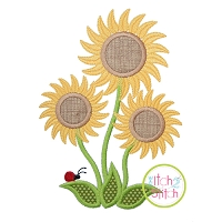Sunflower Trio Applique