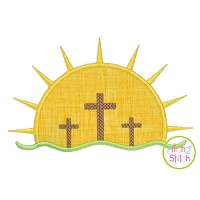 Sunrise Crosses Applique