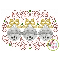 Super Swirly Jingle Bells Trio Sketch Embroidery