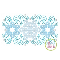 Super Swirly Snowflake Trio Sketch Embroidery