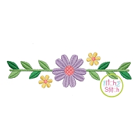 Sweet Floral Border Embroidery Design
