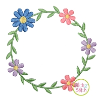Sweet Floral Frame 1 Embroidery Design