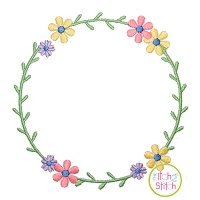 Sweet Floral Frame 2 Embroidery Design