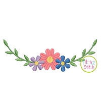 Sweet Floral Swag Embroidery Design