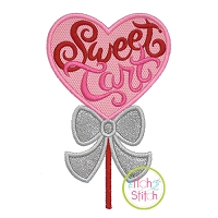 Sweet Tart Sucker Applique Design